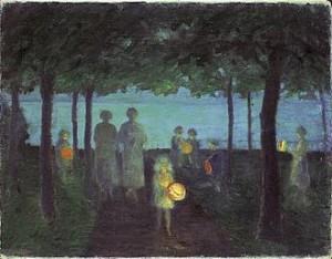 Ernst Oppler (1867-1929): Abend an der Ostsee