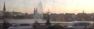 Blick aus dem fahrenden Zug